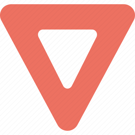 away, give, road, sign, triangle icon
