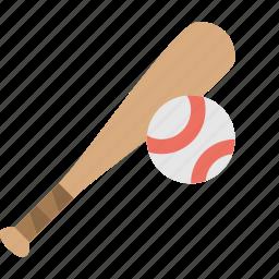 ball, baseball, bat, game icon
