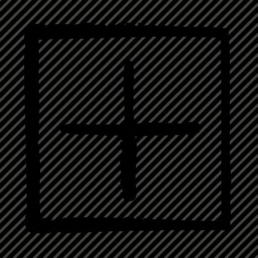 add, addition, ancillary, plus, square icon