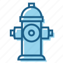 fire, fireplug, hydrant, plug, supply, water icon