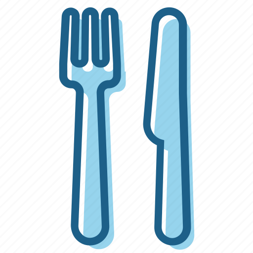 dish, fork, knife, restaurant, silver, silverware icon