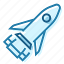 cosmos, moon, rocket, ship, space, spaceship, travel icon