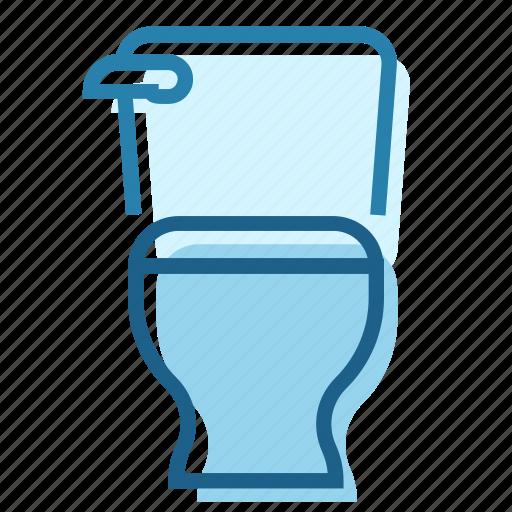 bathroom, ceramic, cistern, seat, toilet, wc icon