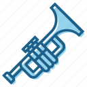 blow, brass, instrument, music, musically, trumpet icon