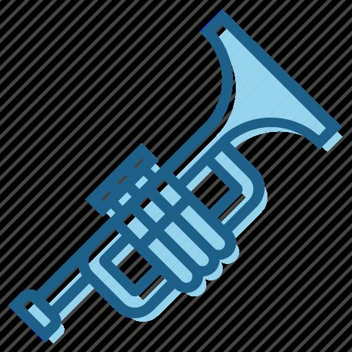 Blow, instrument, music, musically, brass, trumpet icon
