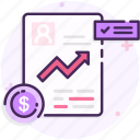 analytics, finance, financial, financial report icon