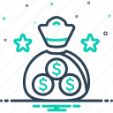 currency, economy, emolument, finance, wage icon