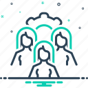 cluster, conglomeration, group, people, team icon