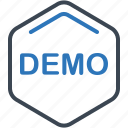 demo, demonstration, exhibition icon
