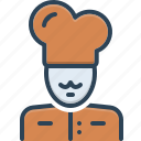 baker, chef, cook, cooking, masterchief, person, professional icon