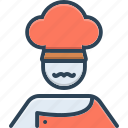 baker, cook, cooking, masterchief, occupation, person, professional icon