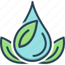 green, grassy, nature, leaf, drop icon