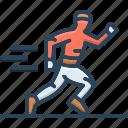 athletics, jogger, man, race, runner, running, sports