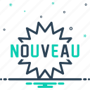 latest, mordern, new, newest, nouveau, recent icon