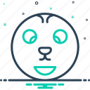 odd, offbeat, strange, unusual, weird icon