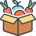 box, economics, fresh, green, healthy, overproducing, vegetable