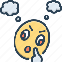 character, emoji, overriding, think
