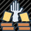 books, bureaucracy, overwork, paperwork, stress, task, workplace