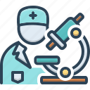 biochemist, diagnosis, experiment, medical, pathologist, pharmacology, scientific