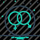 coexistence, cohabitation, coitus, gender, heterosexual, sex, unisex icon