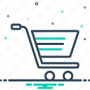 cart, commerce, e, ecommerce, purchase, shopping, trolley icon