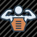 abdomen, body, bodybuilder, man, muscle, pectorals, skin icon