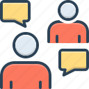 agreement, conversation, debate, discussion, msg, negotiation, persuasive icon