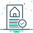 approved, box, check, correct, house, loan, preapproved icon