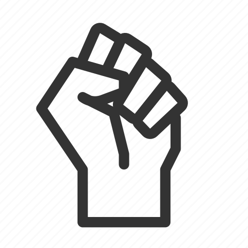 fist, power, protest, resist icon