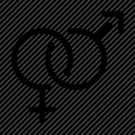 female, gender, heterosexual, male icon