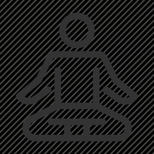 levitate, meditate, relax, yoga icon