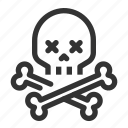 bones, skeleton, death, skull, warning