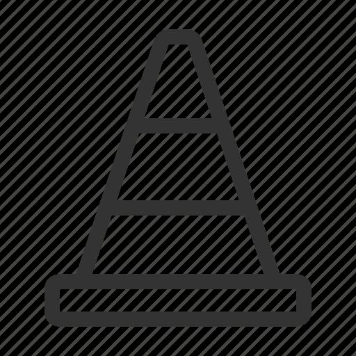 cone, danger, hazard, traffic icon
