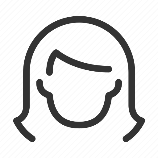 avatar, face, head, woman icon