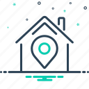 business, community, local, map, market icon