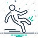 fall, injury, slip, slip and fall, slippery icon