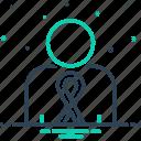 awareness, cancer, disease, hiv, illness, long, sickness icon
