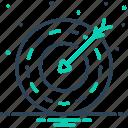 ambition, arrows, darts board, destination, goal, quarry, target icon