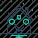 acquaintance, familiarization, meet, neighbor, neighboring, neighbour, vicinal icon