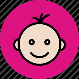 baby, children, happy, kid, newly born icon