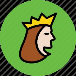 empress, monarch, queen, royal, royal family, ruler icon