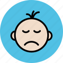 baby, children, kid, newly born, sad, sleeping icon