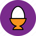 boiled, boiled egg, easter, egg, food icon