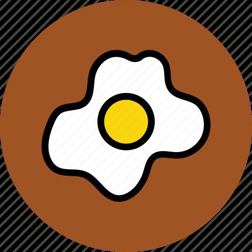 breakfast, egg, food, fried egg, fry egg, half fried egg icon