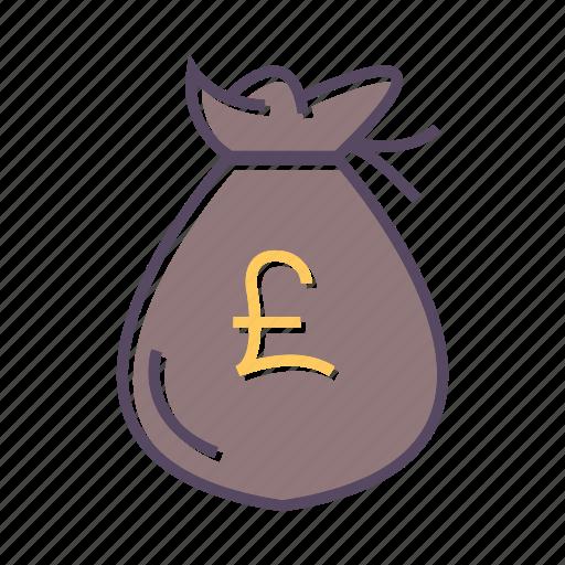 cash, money, pounds, sack icon