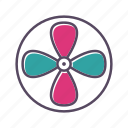 air, fan, turbine, ventilator icon