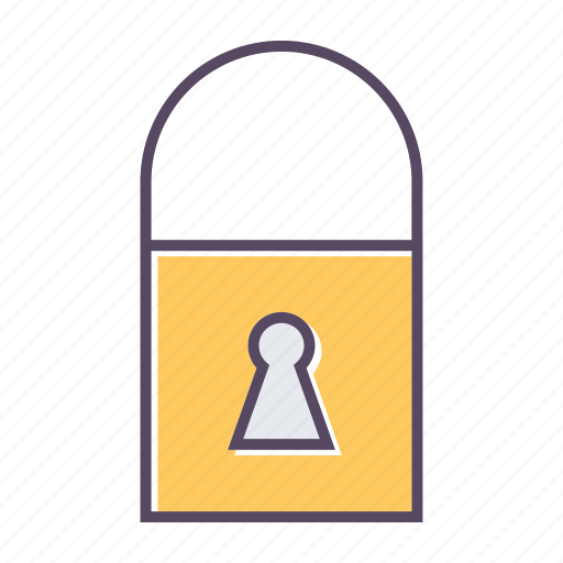 hanging lock, lock, locked, private, safety icon