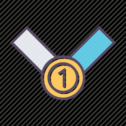 achievement, award, medal, win icon