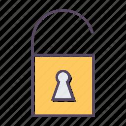 lock, open lock icon