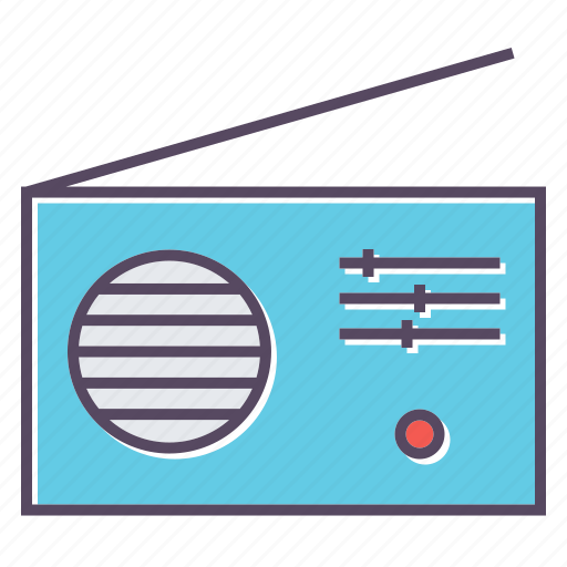 media, radio, signal icon
